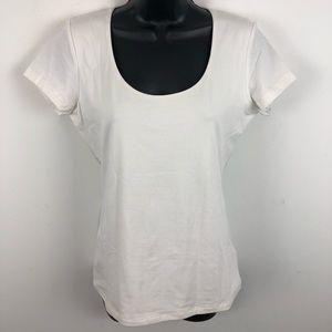 NWT Chaps Ralph Lauren White Shirt Top Soft Medium